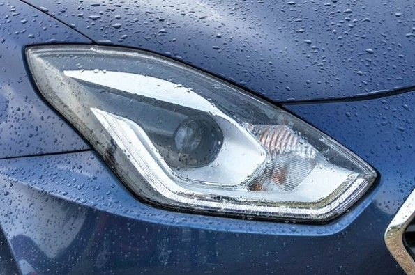 The Dzire is the only one here with a LED headlight.