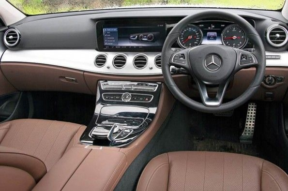 The interiors are typical of a modern-day Mercedes.
