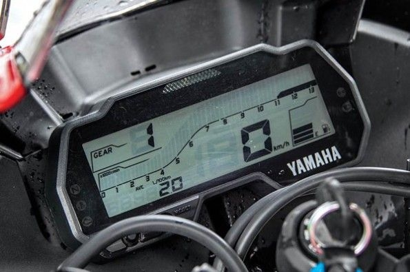 The R15 uses a fully-digital gauge.
