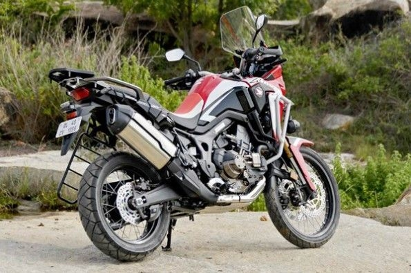 One can store a lot of luggage on the Africa Twin.
