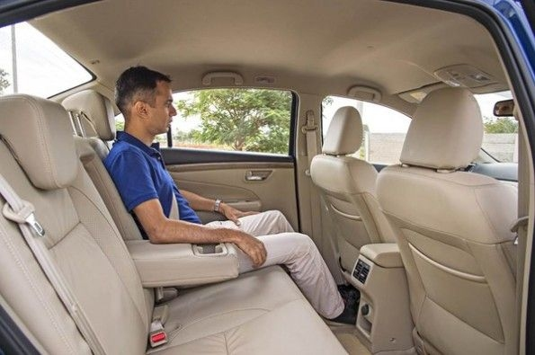 The rear seat offers a lot of room.