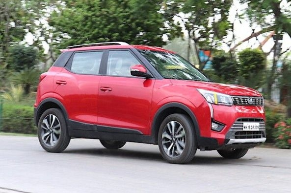 Red Color Mahindra XUV300 Side Profile