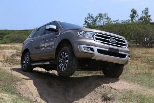 Steel Grey Ford Endeavour Front Profile
