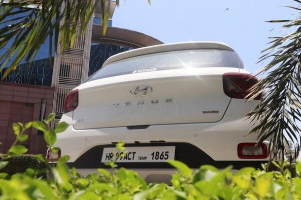 White Color Hyundai Venue SUV Rear Profile