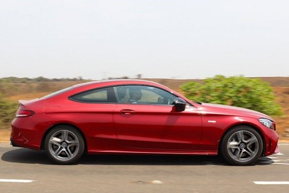 Red Color Mercedes-AMG C43 Coupe Side Profile