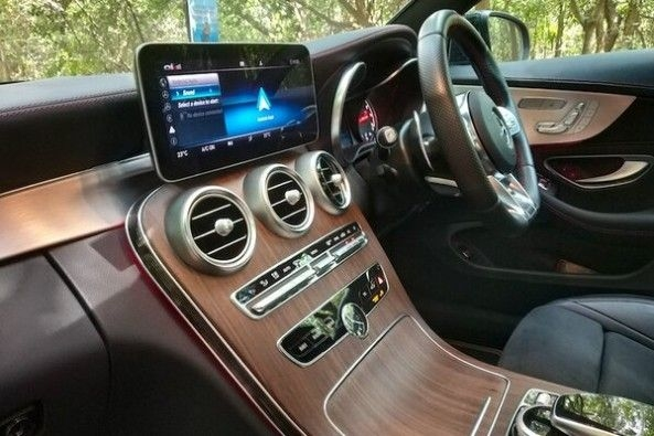 Red Color Mercedes-AMG C43 Coupe Dashboard