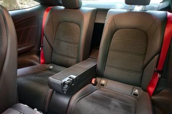 Red Color Mercedes-AMG C43 Coupe Rear Seats