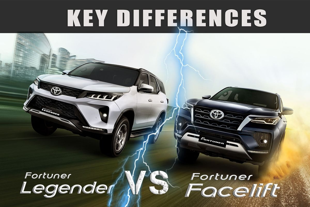 Comparison: 2021 Toyota Fortuner Facelift Vs Legender