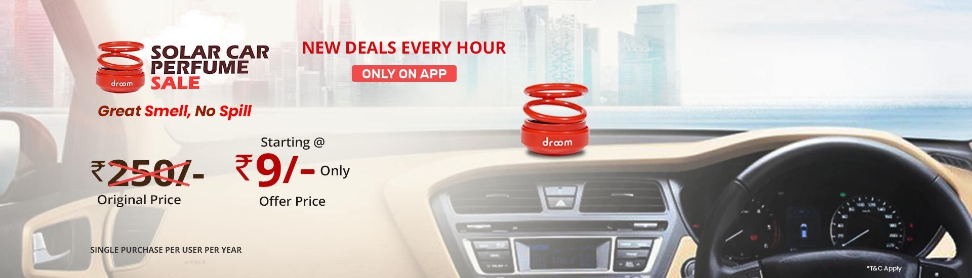 DROOM - Car Perfume Only For Rs.9