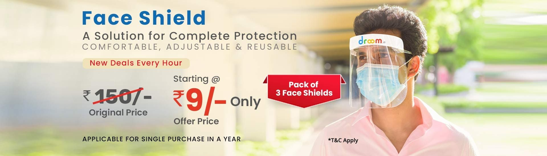 Face Shield | Register Now Option | Droom