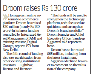 deccan herald  | Droom in news