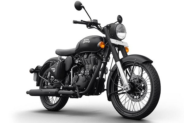Royal Enfield Classic Stealth Black Bike Price, BS6 Classic Stealth Black Bike Mileage, Images and Colors | Droom